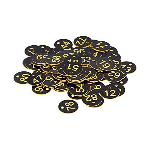 Etiqueta numerada, letrero de colmena brillante duradero para el control de enfermedades de la cría de animales de apicultura(Black yellow)