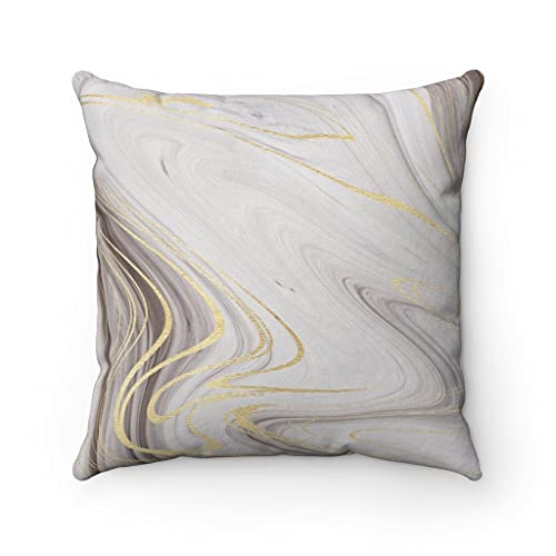 Promini Boho Abstract Pillow Covers, Light Gray, Taupe Brown, Beige Gold, Fancy Living Room, Bedroom Decorative Couch, Accent Pillowcases Case Cushion for Sofa Home Decor 20 x 20 Inches