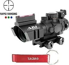 TACBRO RECON SERIES 4X32MM RIFLESCOPE W/ RAPID RANGING RETICLE with One Free TACBRO Aluminum Opener(Randomly Selected Color)