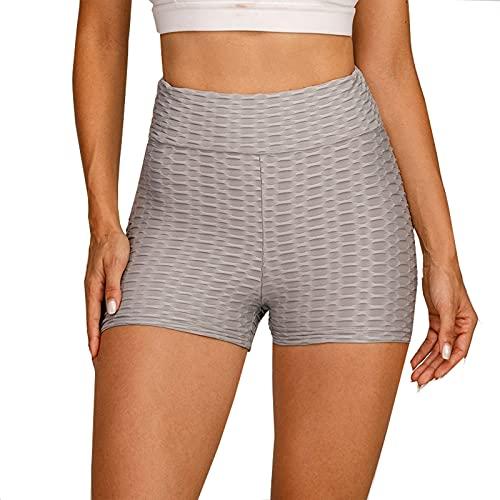 Leggins Cortes Mujer Vestir Deportivos Running Baratos Gimnasio Elegantes Bonitos Colores Fiesta Ofertas Verano Los Pantalones de Yoga de Cintura Alta Suaves EláSticos (Color : Gray, Size : S)
