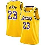 YCQQ Jersey Baloncesto Masculino, Lebron James #23 Camiseta de Baloncesto para Hombres - NBA Lakers Camiseta de Jugador de Básquetbol Bordado, Chaleco De Gimnasia(Size:L177-182,Color:G4)