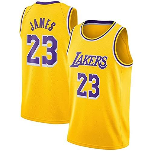 Trade Los Angeles Lakers Lebron James Baloncesto Masculino Cosido Transpirable # 23 Sport Swingman Jersey Ropa, Fresco y Transpirable Tejido Deportivo, Que Absorbe la Humedad(Size:S,Color:A1)