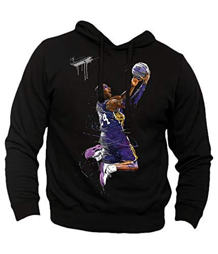Generico Felpa Uomo Kobe Bryant Hoop - Campioni di Basket NBA Pallacanestro Mamba (Nero, XL)