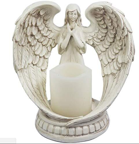 Infinitely Great Home Decor Center 1 pièce Figurine d'ange en Train de Prier Ailes d'ange sans Flamme
