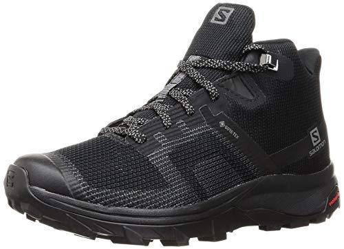 SALOMON Calzado Medio Outline Prism Mid GTX, Zapatillas de Senderismo Mujer, Black, 41 1/3 EU