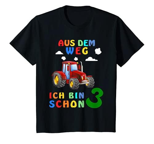 Kinder 3. Geburtstag Junge Ich bin schon 3 Jahre Traktor Trecker T-Shirt