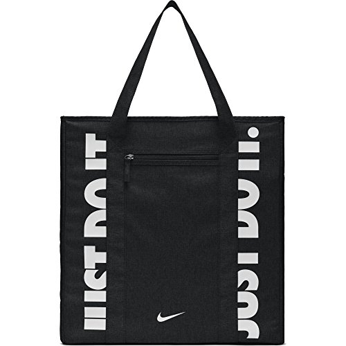 NIKE Gym Women's Training Tote Bag, Black/Black/White, One Size