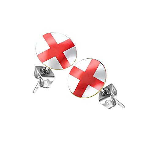 Piersando Ohrstecker Ohrringe Fahne Fussball EM & WM Länderflagge Fanartikel Land Flagge Schmuck Herren Damen England