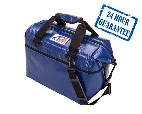 AO Coolers Sportsman Vinyl Soft Cooler with High-Density Insulation, Royal Blue, 24-Can