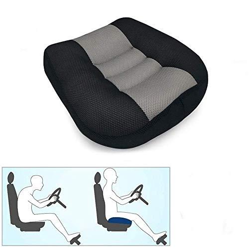 WAQIA Car Seat Cushion Booster Seat Cushion Driver Booster Seat Car seat Cushion Heightening Height Boost Mat Portable Car Seat Pad Lift Seat for Car, Office,Home (Black)