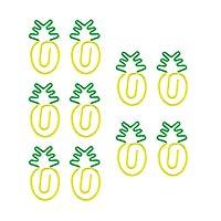 ペーパークリップ のかわいい金属クランプ アニマル クリップ かわいい 動物達 ゼムクリップ アソート ニンジン/白大根/エンドウ豆/アイスクリーム形 10枚入り パイナップル