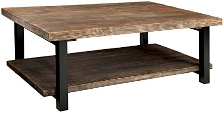 Best Alaterre AZMBA1220 Sonoma Rustic Natural Coffee Table, Large, Brown, 48\