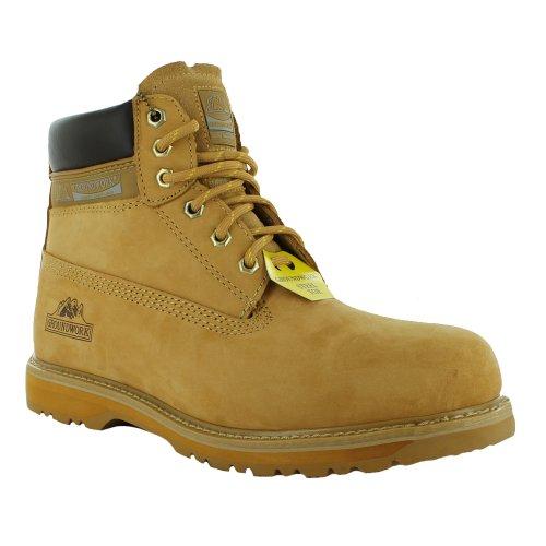 Footwear Sensation - Calzado de protección para hombre, color Amarillo, talla 42 EU