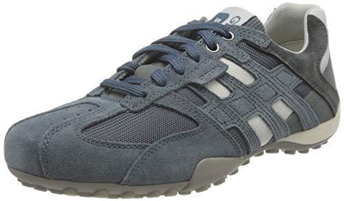 Geox Uomo Snake K, Zapatillas Hombre, Azul (Jeans White C0492), 43 EU