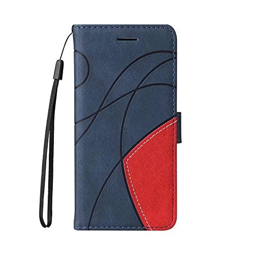 JJSMIDa Capa carteira para celular Xiaomi CC9 luxuosa lindamente flip capa de couro com [compartimento para cartão de crédito][suporte][alça de pulso] para Xiaomi CC9 (azul)