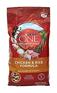 Purina ONE Dry Dog Food, SmartBlend Chicken and Rice Formula, 8 Lb Bag from Purina ONE