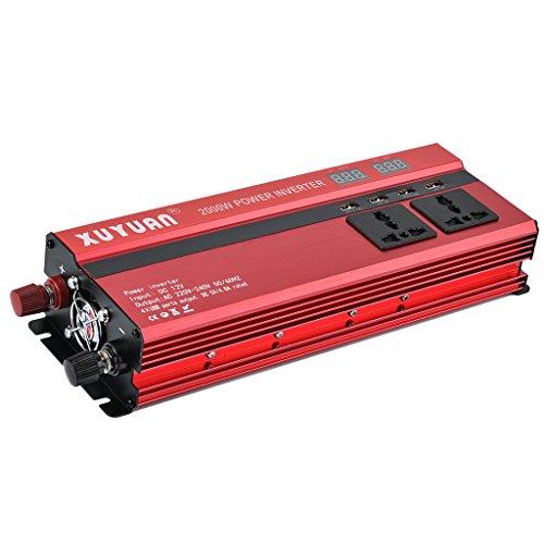 D DOLITY Voltaje Corriente 12V 2000W Inversor con Pantalla LCD