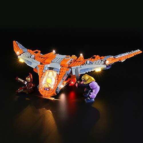 LIGHTAILING Conjunto de Luces (Super Heroes Thanos: Batalla Definitiva) Modelo de Construcción de Bloques - Kit de luz LED Compatible con Lego 76107 (NO Incluido en el Modelo)