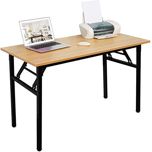 YAWAN Mesa plegable de escritorio plegable para ordenador, escritorio, estudio, portátil, mesa de conferencia, mesa de oficina en casa, no necesita instalación.