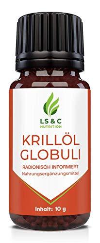 Krillöl Globuli EPA + DPA + 1500mg Tagesdosis + Antarktis Krill - HOCHDOSIERT, 10g