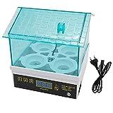 JZWX Incubatore Digitale a Temperatura Piccola Incubatore a 4 incubatoio per polli e Anatre Piccioni di Struzzo