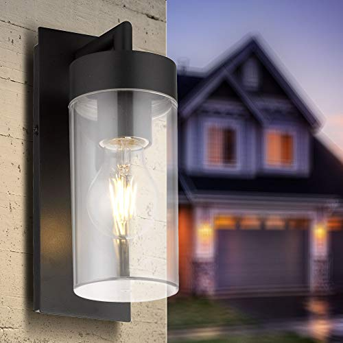 Aussenleuchte Wand Aussenwandleuchte E27 schwarz Wandleuchte Deckenleuchte Wandlampe Aussenwandleuchte Aluminium Aussenwandlampe 1883-BK