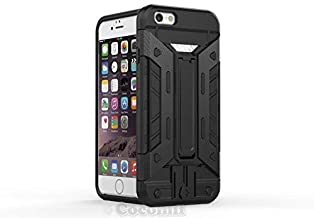 Cocomii Transformer Armor iPhone 6S Plus/6 Plus Case New [Heavy Duty] Built-in Multi Card Holder Kickstand Shockproof Bumper [Military Defender] Cover for Apple iPhone 6S Plus/6 Plus (T.Black)