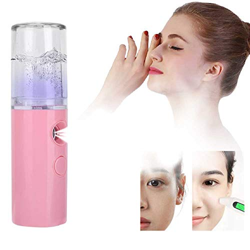 Handy Face Steamer, Nano Sprayer Nano Face Steamer Face Umidifier Sprayer Donna Uomo Idratante(rosa)