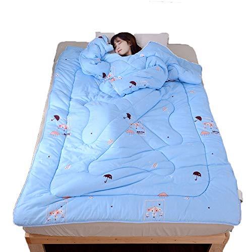 Blankets Couverture d'hiver à Manches Longues Multifonction Famille Chaud Épaissie Lavé Fournitures De Lit,B,180x220cm
