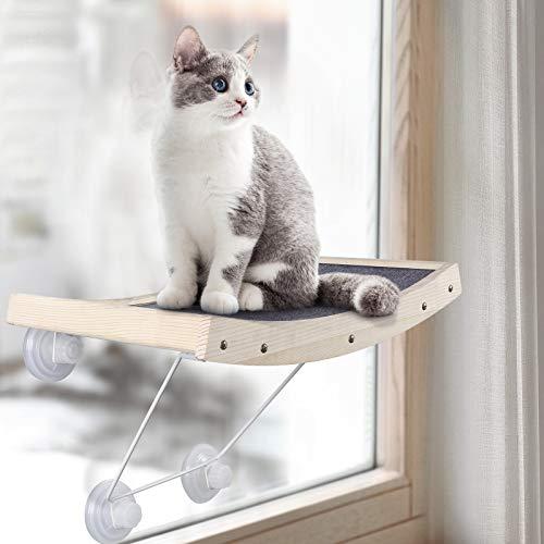 JOYO Katzen Hängematte Katzen Fensterplätze Sonnenbad Katzenbett, Leistungsstarker Saugnapf Robuster und Langlebiger Window Lounger bis zu 18kg, sicher & platzsparend Fenster Katzenhängematte