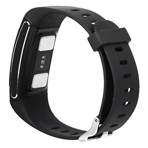 Q-HL Smartwatch Reloj Inteligente E88 Smart Sports Bracelet Sano Step Count Multifunción Electrocardio Temperatura Reloj para Mujeres Hombres - Negro