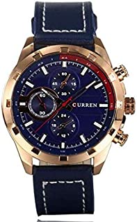Curren Casual Watch For Men Analog Leather - Curren-8216