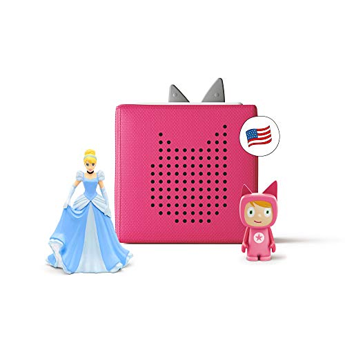 Toniebox Starter Set Pink + Disney Cinderella - Educational Musical Toy for Girls - Imagination-Building, Screen-Free Digital Listening Experience That Plays Stories, Songs, and More