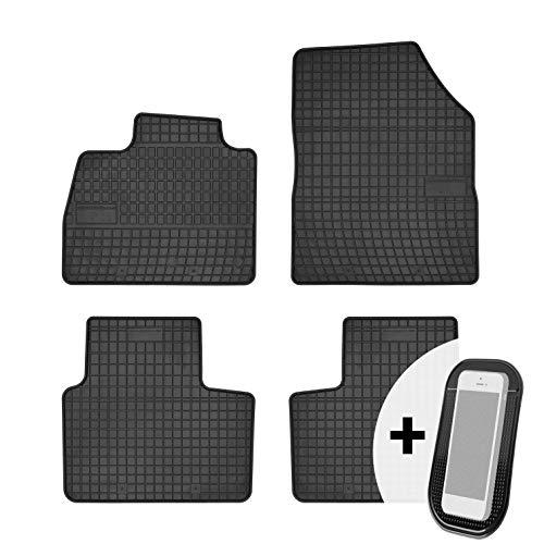moto-MOLTICO Tapis de Voiture - 4 pièces - Tapis de Sol antidérapant pour Automobile - 100% Caoutchouc - Adapte pour: Renault Scenic IV 2016-