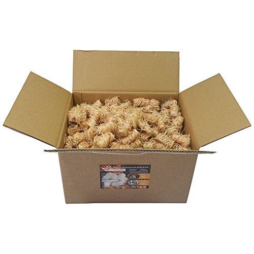 Zündfüchse Kaminanzünder Premium 5 kg (ca. 400 Stück) Biologische Holzwolle Anzünder Grillanzünder Bioanzünder
