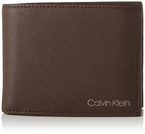 Calvin Klein Wallets, Carteras para Hombre, marrón Oscuro, One Size