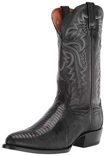 Dan Post Boot Company Boot Company Men Winston DP3050R Boot Black Black Lizard Cowboy Boots