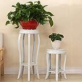 Lfixhssf Klassischer Tall Pflanzkübel Blumentopf Art Ständer Ständer Pflanzenregal Pflanzenregal für Garten und Dekoration für zu Hause, Aufbewahrungsbehälter, Weiß