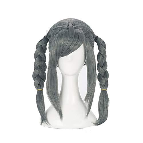 Xingwang Queen Anime Cosplay Wig Double Braided Dark Gray Women Girls