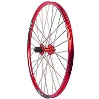 26インチ自転車フロントホイールリアホイールセットダブルレイヤーアロイバイクリムQ/R MTB 7 8 910スピード32Hバイクフロントホイールとリアホイール