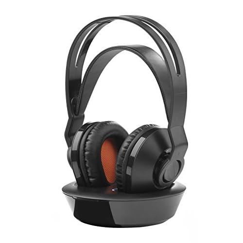 One For All HP10 30 Cuffie per televisore wireless ricaricabili (Over-Ear per TV/Musica/PC) – con Tecnologia Clear Voice integrata – Nero