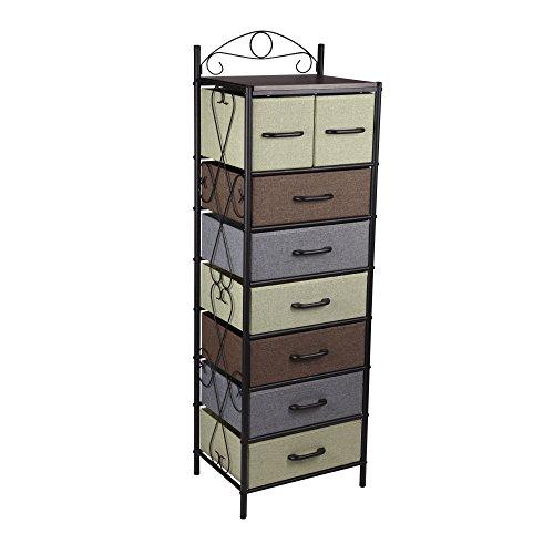 Household Essentials-8-Drawer Torre, Torre, Negro, 1