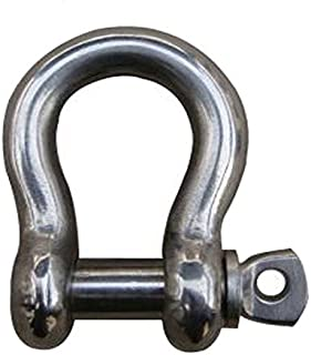 MarineNow US Type 316 Stainless Steel Bow Shackle with Over Size Screw Pin for Anchor, Towing, Off Road Recovery