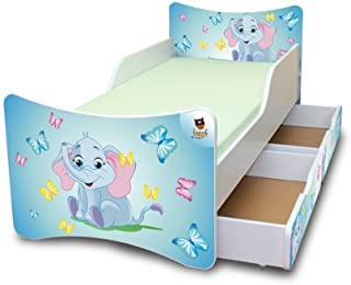 Best For Kids CHILDREN S BED with foam mattress with T V CERTIFIED 90x200 WITH TWO DRAWERS DESIGNS     children     elephant