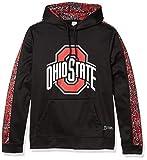 NCAA Ohio State Buckeyes Men's Hoodie, Black/Red/Gray, Large