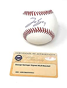 George Springer Houston Astros Signed Autograph Official MLB Baseball Steiner Sports Certified