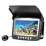 Buscador de peces, cámara de pesca submarina, buscador de peces de 4,3 pulgadas con línea de 49 pies, cámara impermeable portátil de 1000tvl con luz LED
