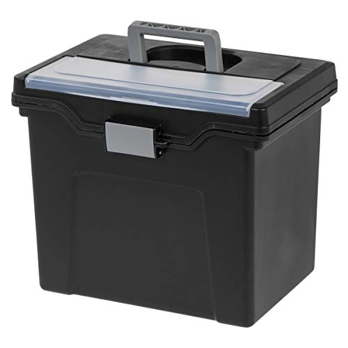 Office Depot Large Mobile File Box, Letter Size, 11 5/8in.H x 13 3/8in.W x 10in.D, Black/Silver, 110987 Photo #5