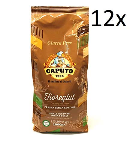 12x Antico Molino Caputo Mehl Farina senza glutine Fioreglut Glutenfrei 1Kg