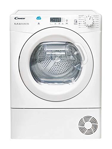 Candy CSH8A2LE Freestanding Heat Pump Tumble Dryer, Sensor Dry, 8 kg Load, White